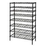 Focus FWSK3654BK Black Epoxy Wine Shelving Rack, Holds 72-Bottles