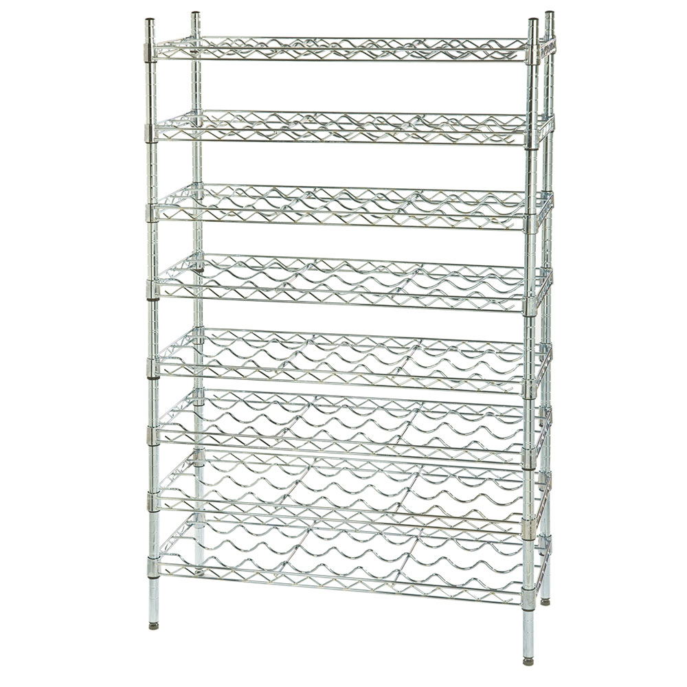 Focus FWSK4863CH Chromate Wine Shelving Rack, Holds 120-Bottles