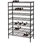 Focus FWSK3663BK Black Epoxy Wine Shelving Rack, Holds 90-Bottles