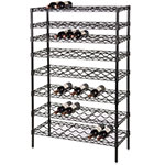 Focus FWSK4863BK Black Epoxy Wine Shelving Rack, Holds 120-Bottles