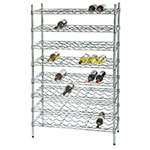 Focus FWSK4874CH Chromate Wine Shelving Rack, Holds 144-Bottles