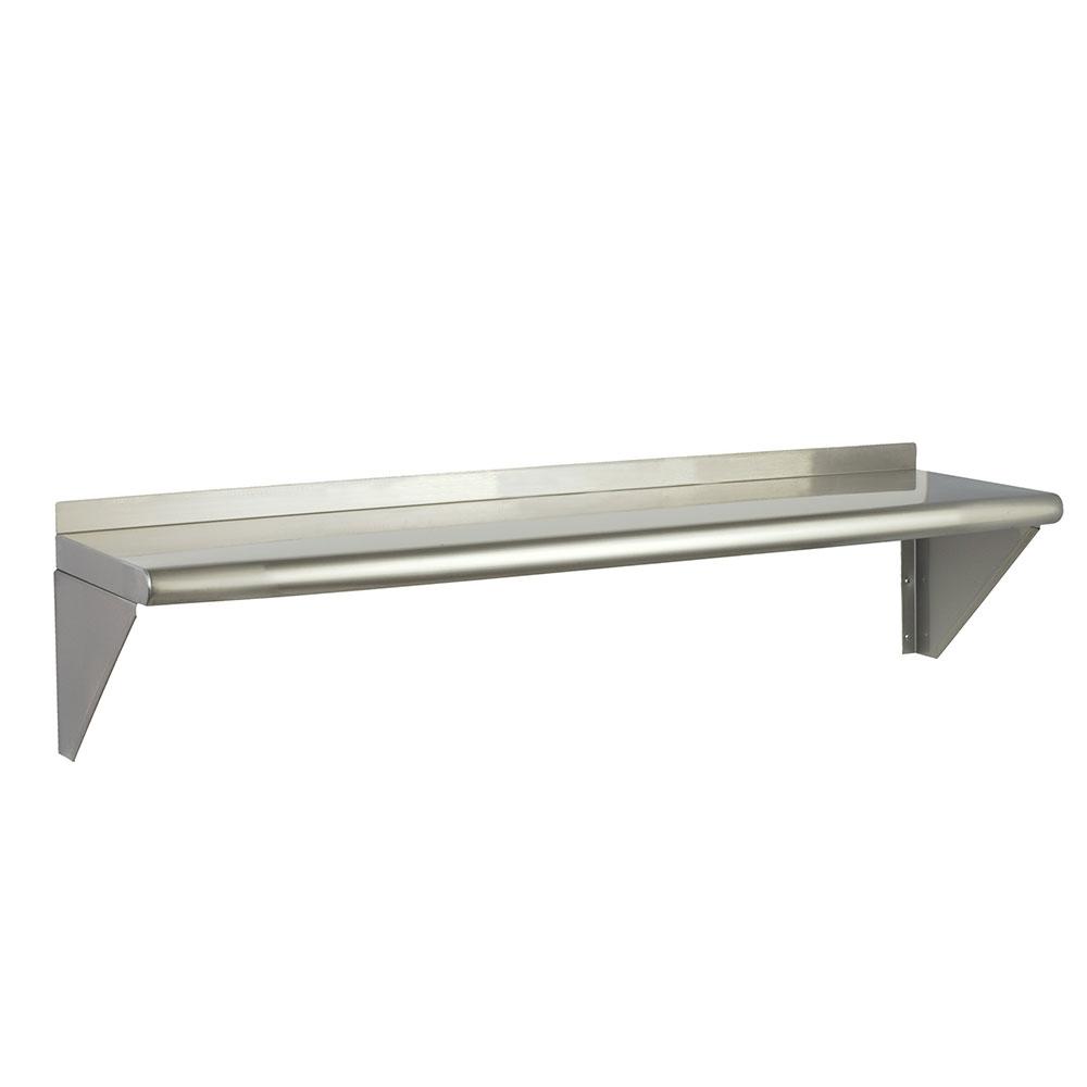 "Focus FWSSS1224 24"" Wall Shelving Kit w/2-Brackets & 1-Shelf, Stainless"
