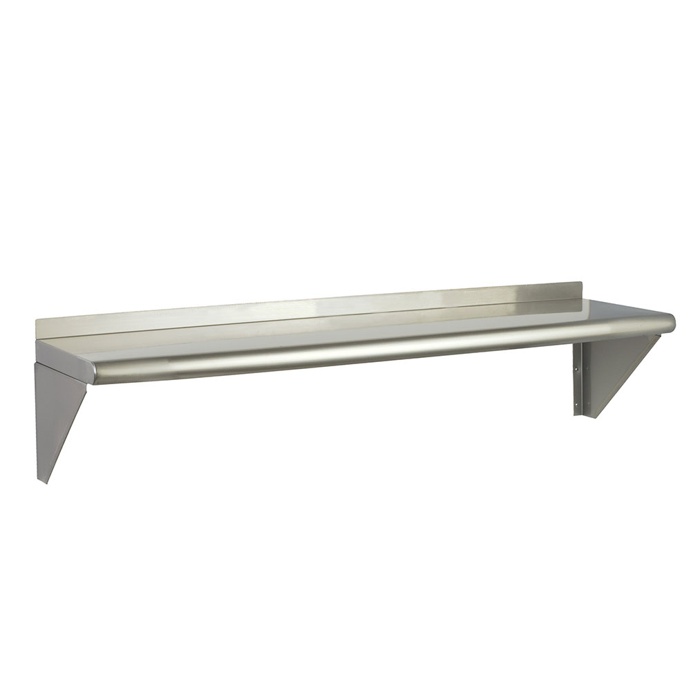 "Focus FWSSS1248 48"" Wall Shelving Kit w/2-Brackets & 1-Shelf, Stainless"