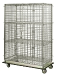 "Focus FHDMSEC24604 Mobile Security Cage w/ 63"" Staked Posts, (4) 24 x 60"", NSF"