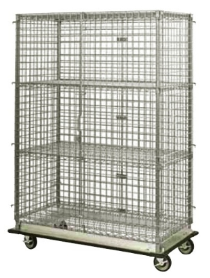 Focus FHDMSEC2460 Mobile Security Cage w/ 63-in Staked Posts, (2) 24 x 60-in, NSF