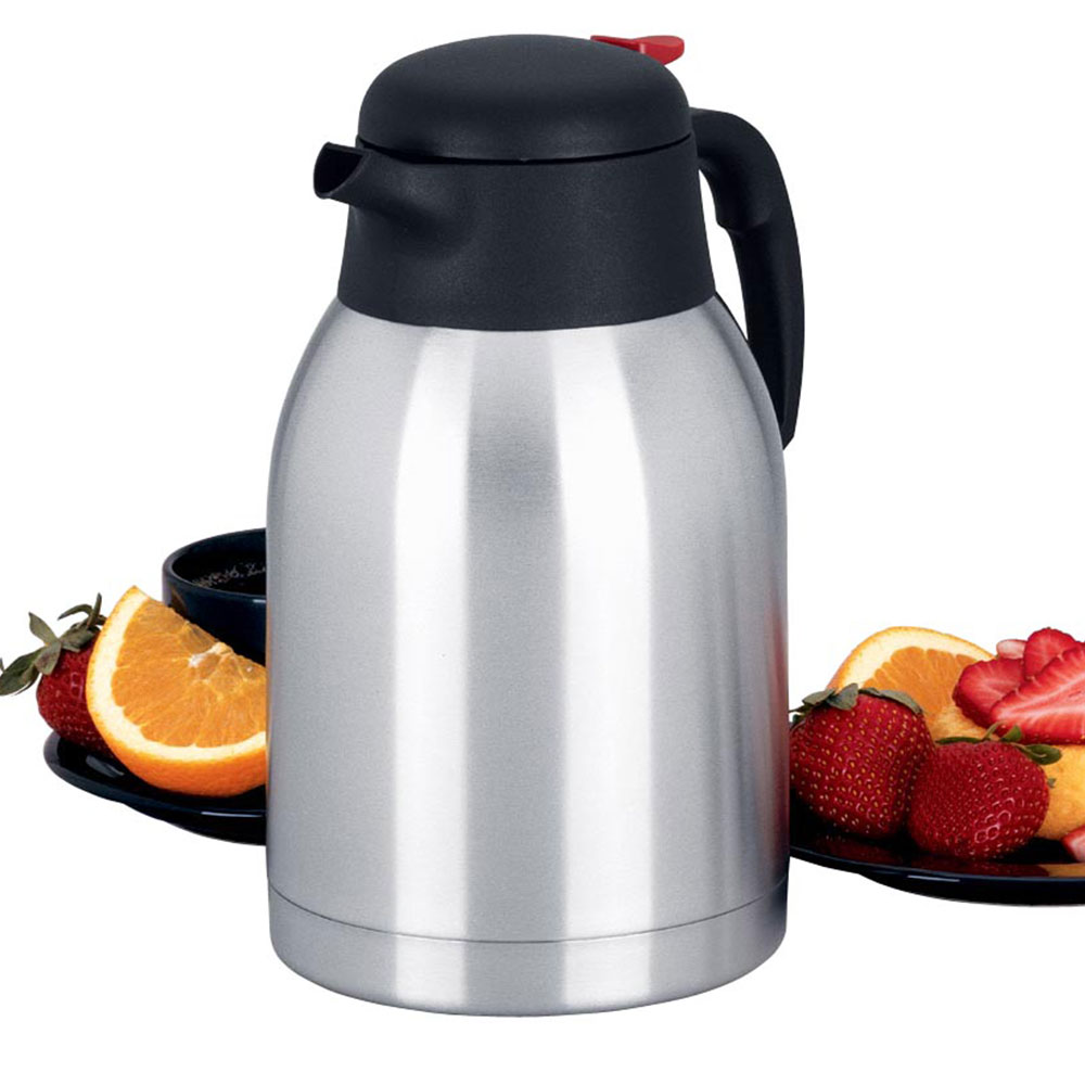 Focus KPW9101 Airpot Thermal Carafe w/ Trigger, 2.0 Liter, Vacuum Insulation