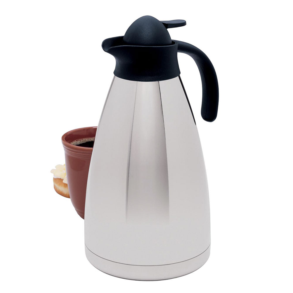 Focus KPW9113 2-L Stainless Carafe w/ Push Button & Twist Cap Lids