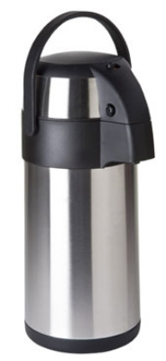Focus KPW9325PB 2.5 Liter Airpot, Push Button, Stainless Vacuum Insulated And Liner