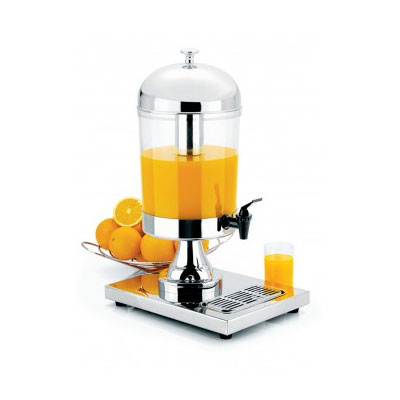 Focus KPW9500 Juice Dispenser, Polished Steel, Ice Inset, Drip Tray, 8.5 qt