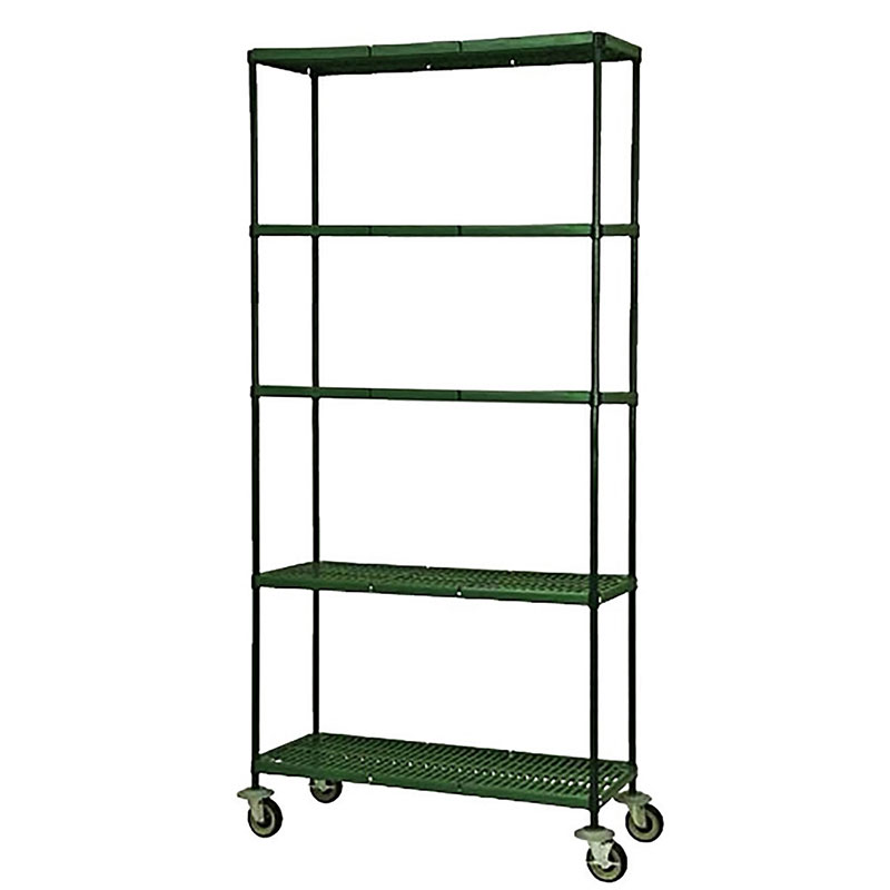 Focus FMPS1836694 4-Tier Mobile Shelving Cart w/ 63-in Posts, 18 x 36-in Shelves