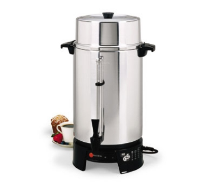 Coffee Maker Made In Usa Or Europe : Focus 58010V 100-Cup Coffee Maker w/ Aluminum Finish & European Standard Plug
