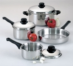 Focus KPWB9032CV Cover Only, For Sauce Pan, Dutch Oven, Easy Grip Black Handle, Stainless Steel