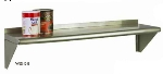Focus FWSSS1260 60-in Wall Shelving Kit w/2-Brackets & 1-Shelf, Stainless