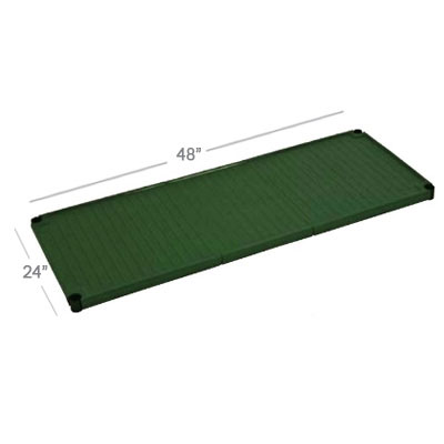 Focus FPS1842SOGN SaniGard Epoxy Coated Solid Shelf, 18 x 42-in, Green