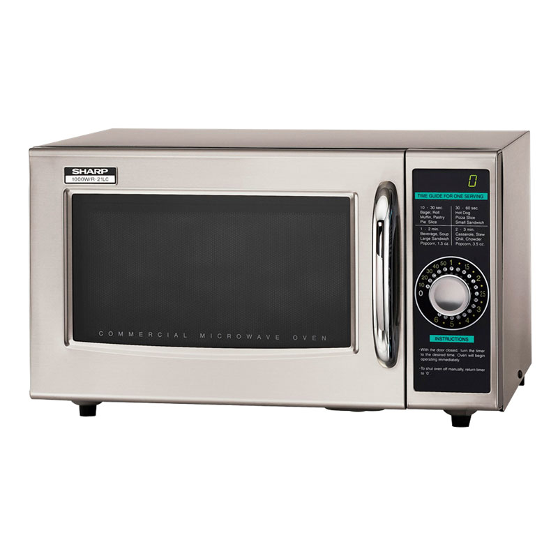 Sharp R21LCF 1000w Commercial Microwave w/ Dial Control, 120v