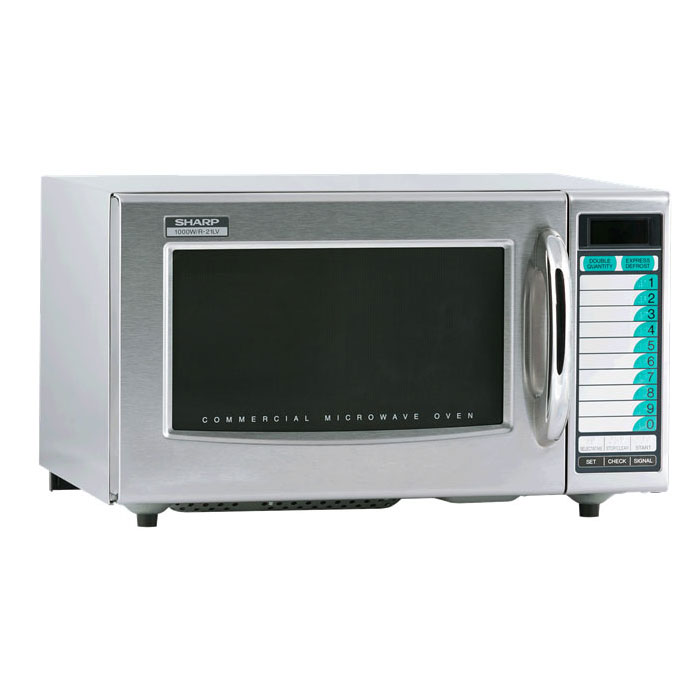 Sharp R21LVF 1000w Commercial Microwave w/ Touch Pad, 120v