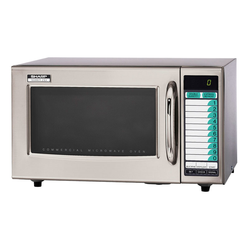 Sharp R21LVF 1000w Commercial Microwave with Touch Pad, 120v
