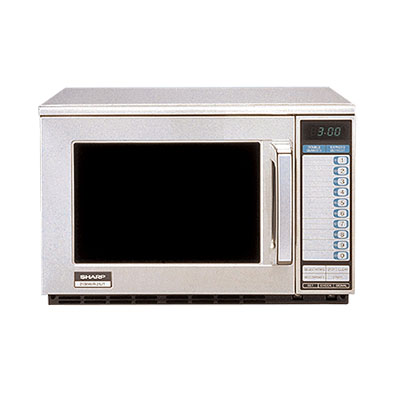Sharp R24GTF 1800w Commercial Microwave with Touch Pad, 230-208/1v