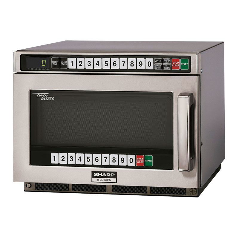 Sharp RCD1200M 1200w Commercial Microwave with Touch Pad, 120v