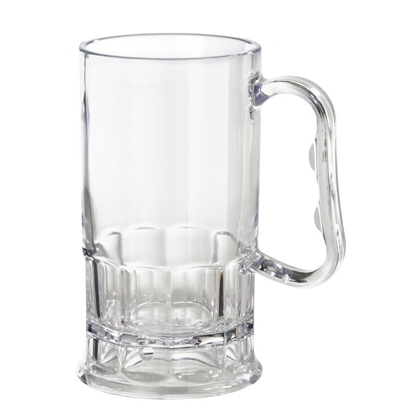 "Get 00082-1-SAN-CL 10-oz Beer Mug, 5"" Tall, Clear Plastic"