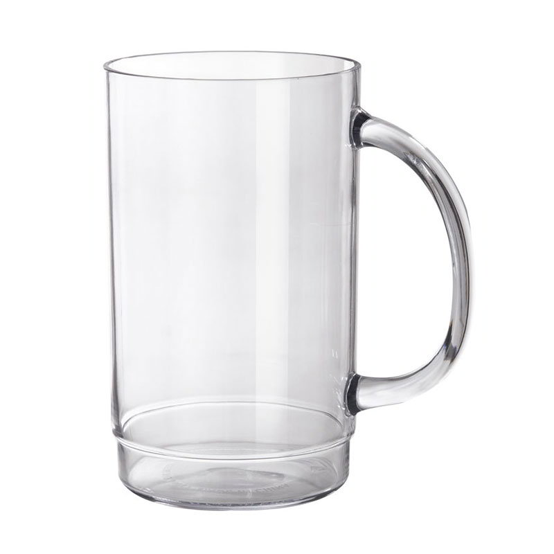 "Get 000831-1-SAN-CL 20-oz Beer Mug, 5.5"" Tall, Clear Plastic"