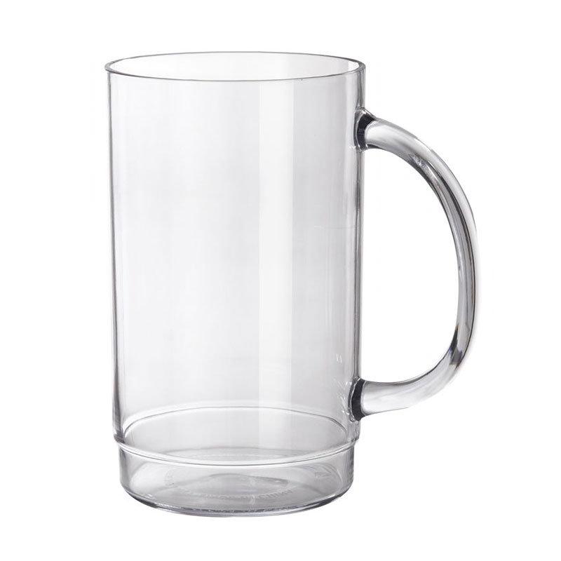 "GET 000831-1-SAN-CL 20-oz Beer Mug, 5.5"" Tall, Clear Plastic"