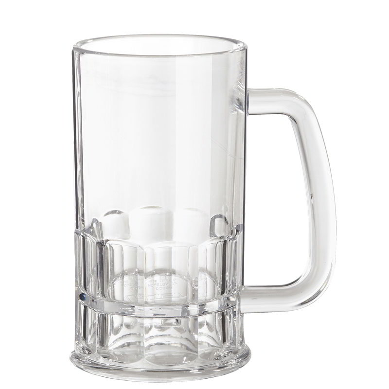 GET 00084-1-TRITAN 12-oz Beer Mug, 5.5-in Tall, Clear TRITAN