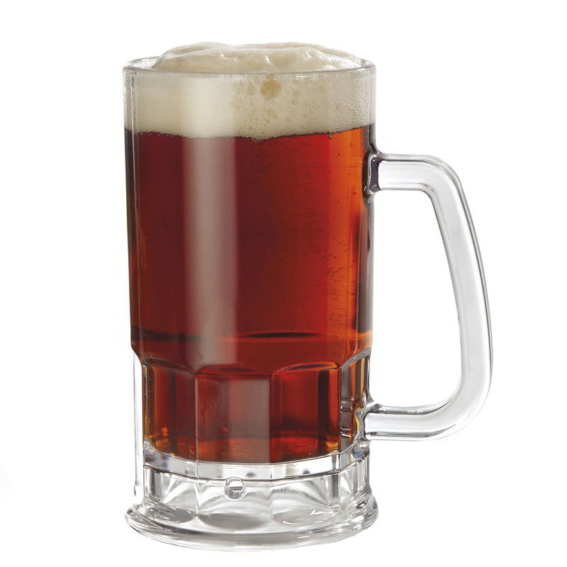"GET 00085-1-SAN-CL 20-oz Beer Mug, 6.25"" Tall, Clear Plastic"