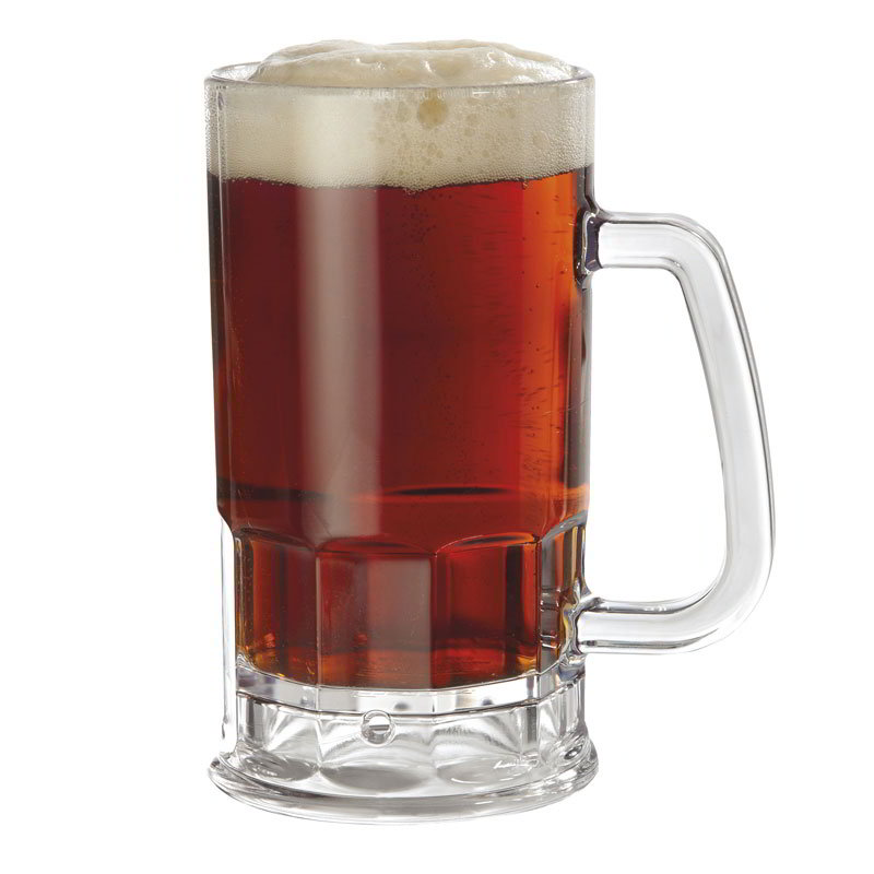 GET 00085-PC-CL 20-oz. Beer Mug, Polycarbonate, Clear Plastic