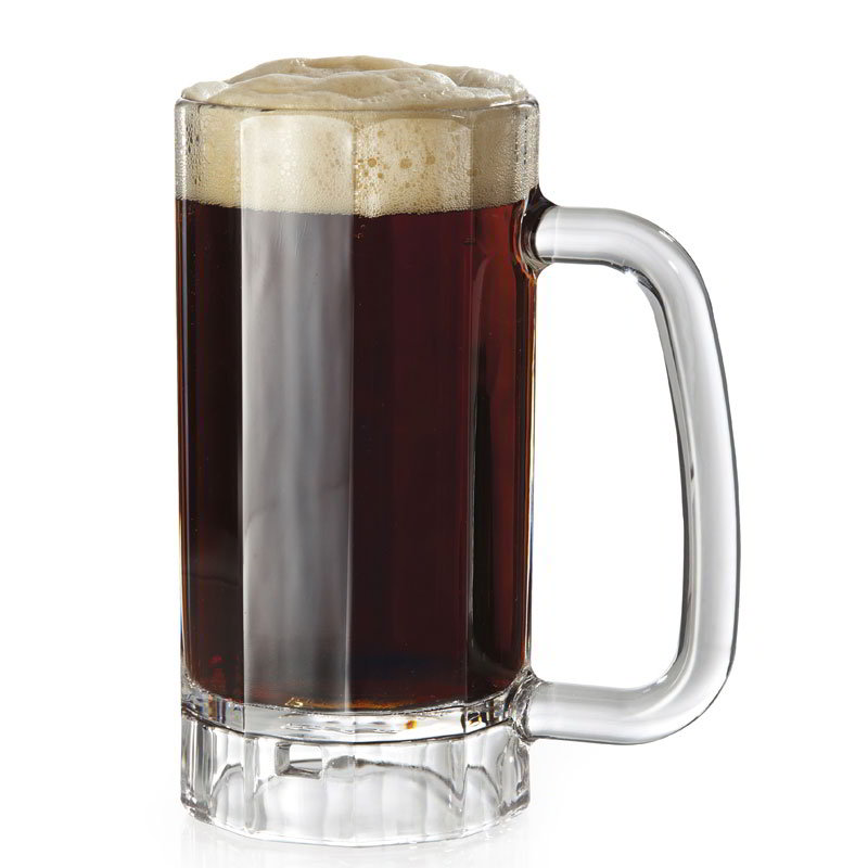 GET 00086-PC-CL 16-oz Beer Mug, Polycarbonate, Clear Plastic
