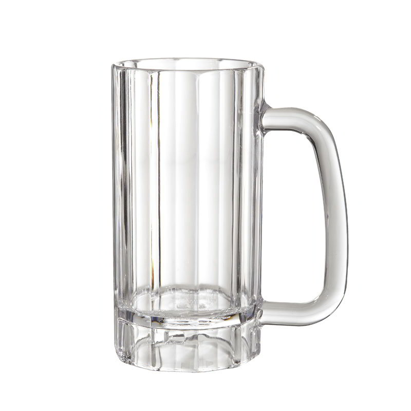 GET 00087-PC-CL 20-oz Beer Mug, Polycarbonate, Clear Plastic