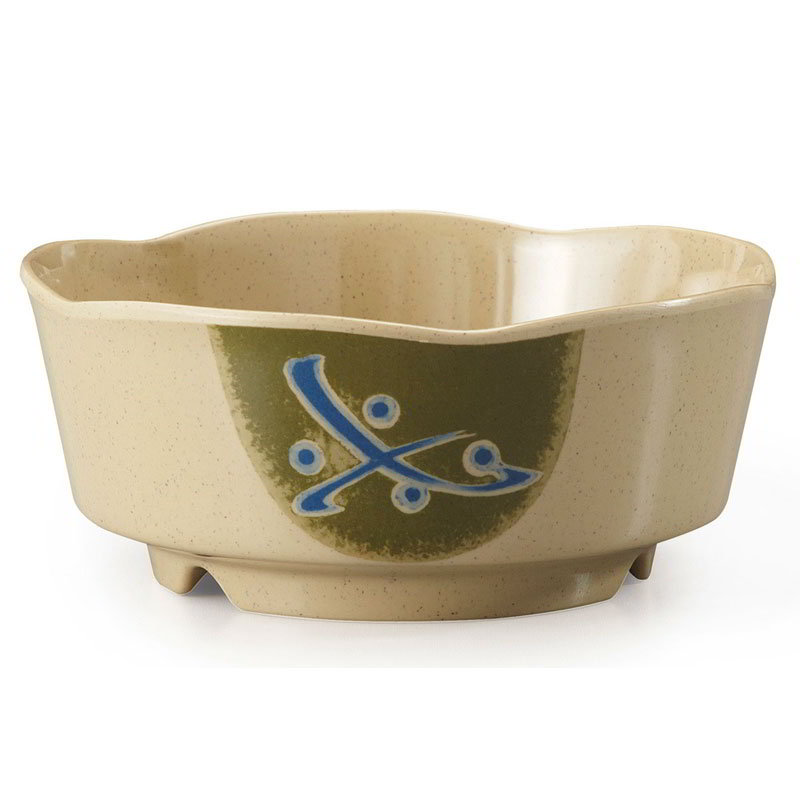 "GET 0163-TD 5.25"" Plastic Bowl, Japanese Traditional"