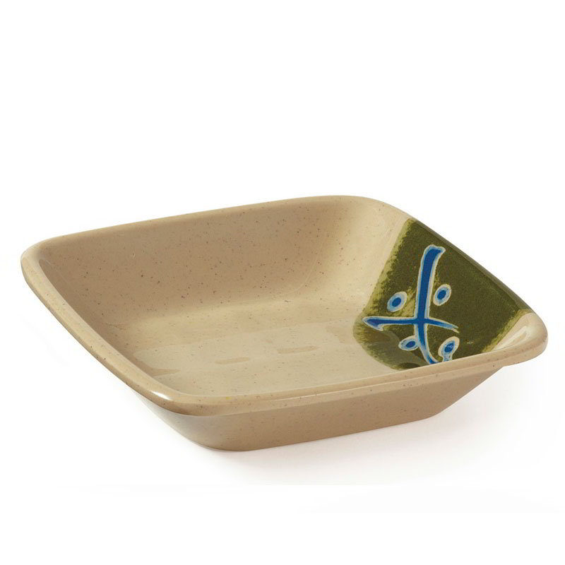 "Get 035-TD 4""x 4""Side Dish, Melamine, Japanese Traditional"