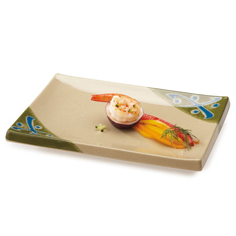 "GET 138-TD 5-1/2""x 8""Plate, Melamine, Japanese Traditional"