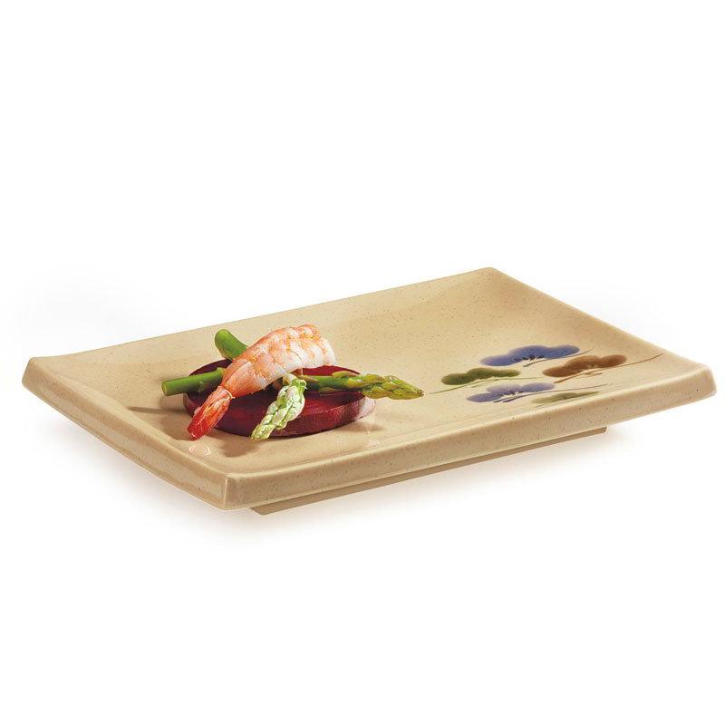 "GET 138-TK 5-1/2""x 8""Plate, Melamine, Japanese Tokyo"