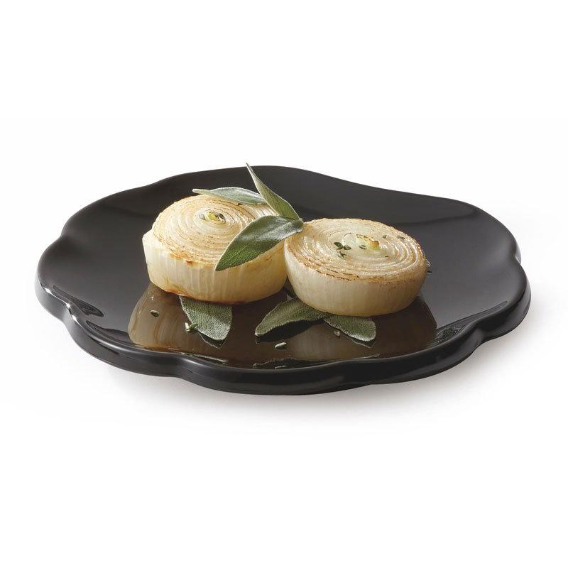 "GET 139-BK 8""Plate, Scallop, Melamine, Black"