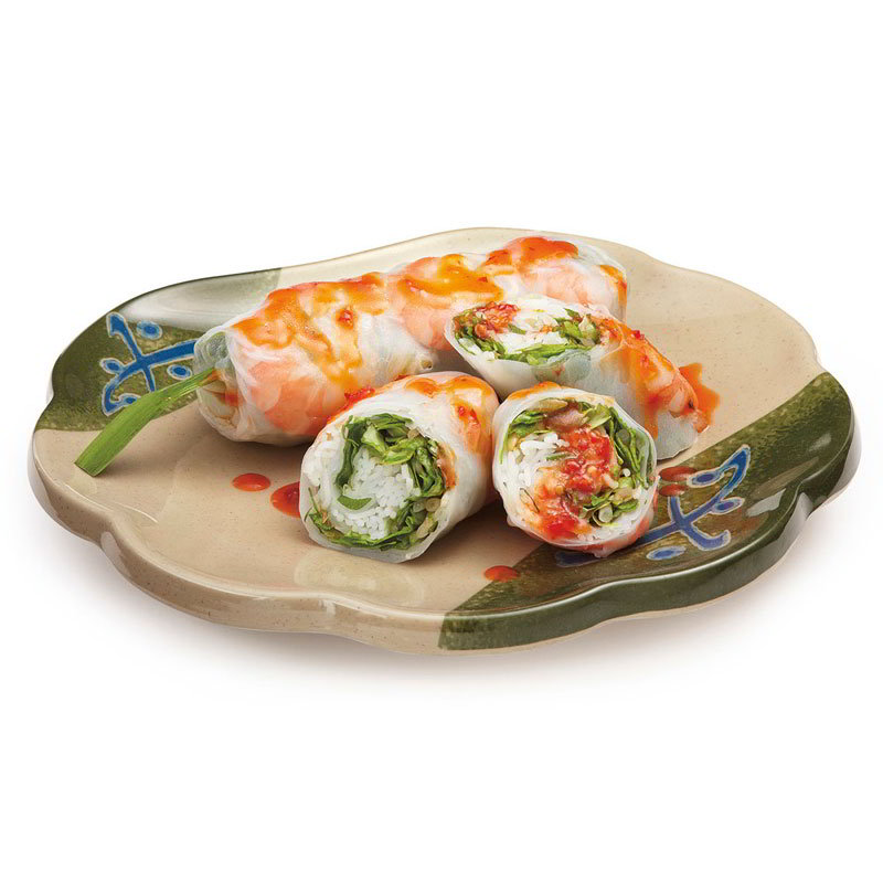 "GET 139-TD 8""Plate, Scallop, Melamine, Japanese Traditional"