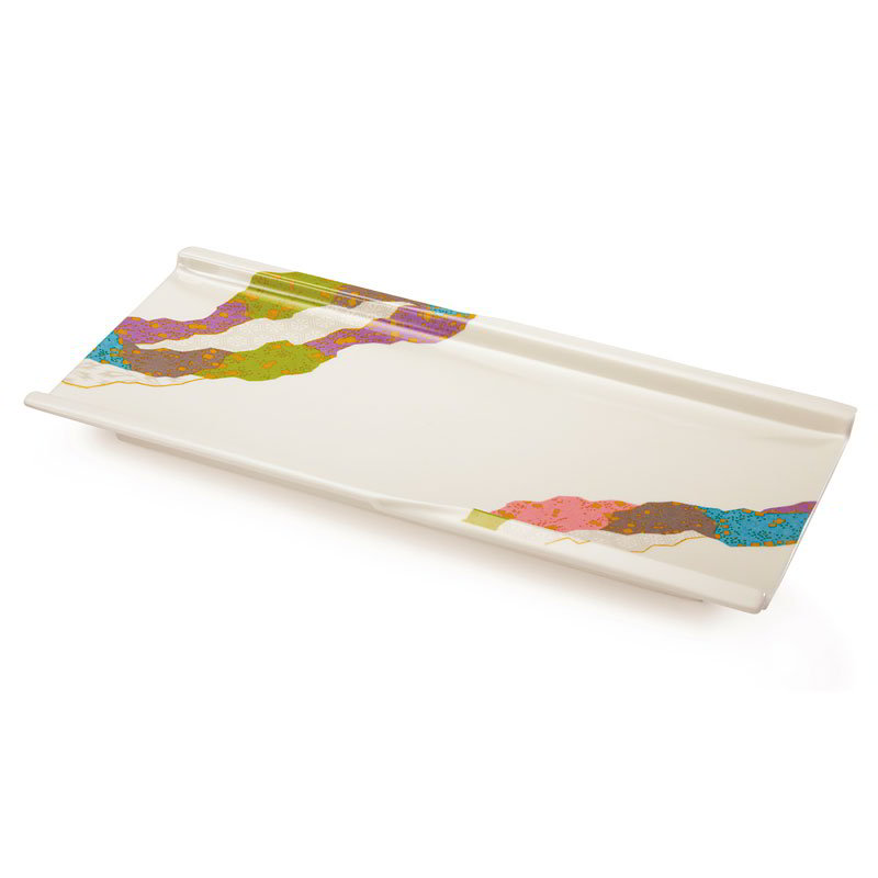 "GET 140-CO 9-1/2""x 4-3/8""Plate, Melamine, Japanese Contemporary"