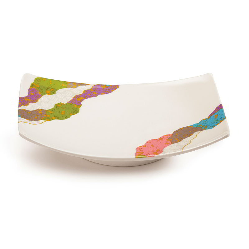 "GET 141-CO 6-7/8""x 4-5/8""Plate, Melamine, Japanese Contemporary"