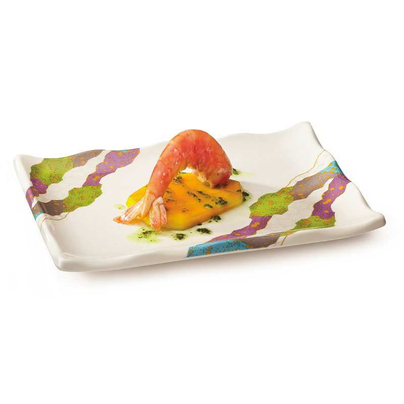 "GET 142-20-CO Rectangular Plate, 8"" x 5.5"", Melamine"