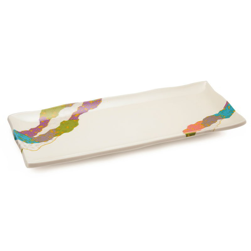 "GET 142-28-CO Rectangular Plate, 11"" X 4.5"", Melamine"