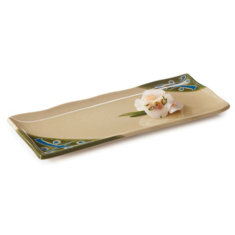"GET 142-28-TD 11""x 4-1/2""Plate, Melamine, Japanese Traditional"