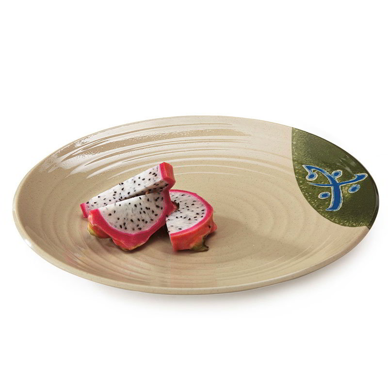 "GET 207-10-TD 10-1/2""Round Plate, Melamine, Japanese Traditional"