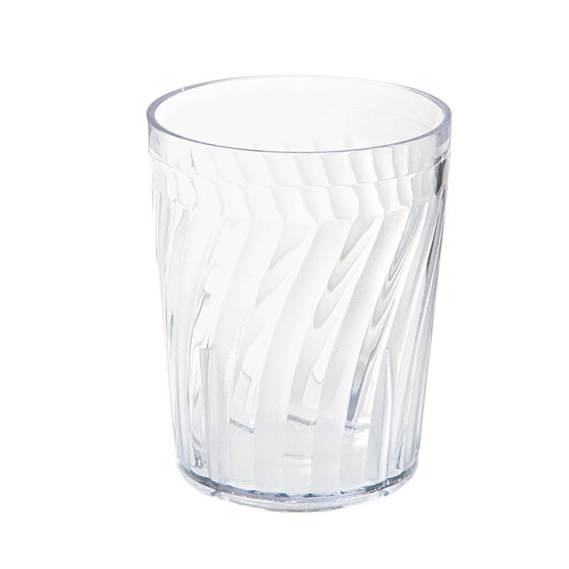 "GET 2206-1-CL 6-oz Healthcare Tumbler, 3-1/4""Tall, Clear Plastic"
