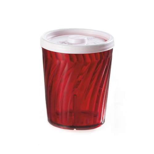 "GET 2206-1-R 6-oz Healthcare Plastic Tumbler, 3-1/4""Tall, Red"