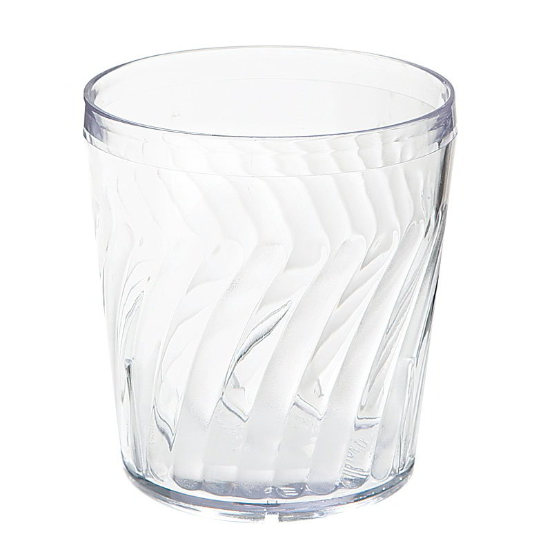 GET 2209-CL 9-oz. Rocks Tumbler, Textured, Tahiti, Clear Plastic