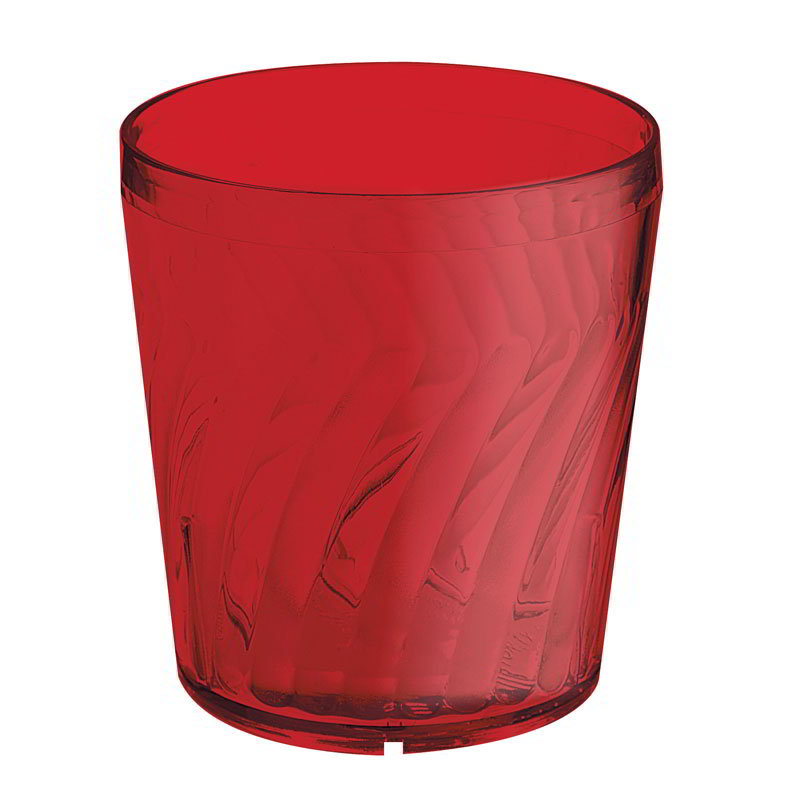 GET 2209-1-R 9-oz. Rocks Plastic Tumbler, Textured, Tahiti, Red