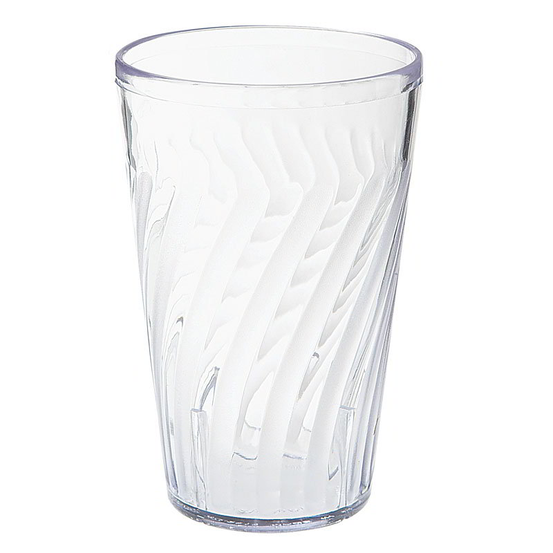 GET 2216-1-CL 16-oz Tahiti Textured Beverage Tumbler, Clear Plastic