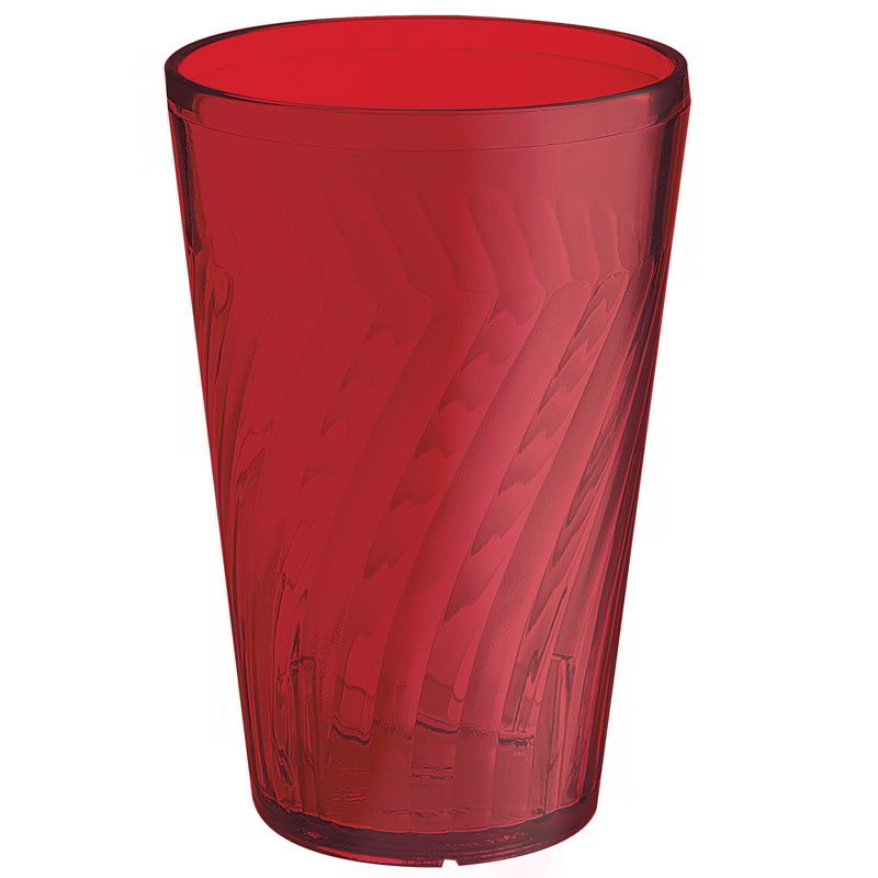 GET 2220-1-R 20-oz Tahiti Textured Beverage Plastic Tumbler, Red
