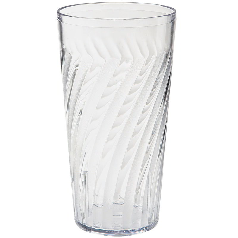 "GET 2221-1-CL 20-oz Tahiti Textured Beverage Tumbler, 6.5"" Tall, Clear Plastic"